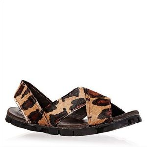 BROTHER VELLIES Tyre strappy sandals in leopard